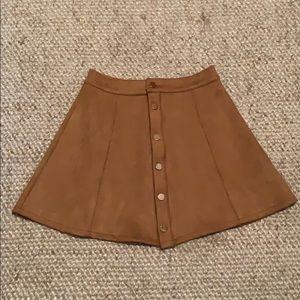 light brown leather skirt!
